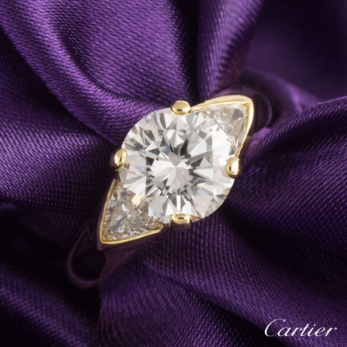 Cartier Yellow Gold Diamond Ring 2.50ct G/VS2
